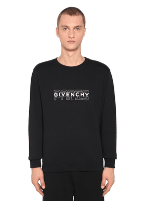 Givenchy Paris Printed Crewneck Sweater