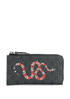 Gucci Kingsnake print GG Supreme wallet - Black