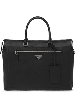 Prada Saffiano leather briefcase - Black