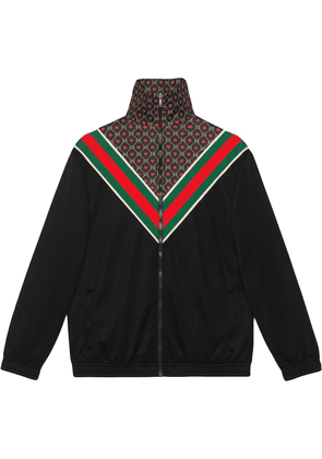 Gucci Oversize jersey jacket with GG star - Black