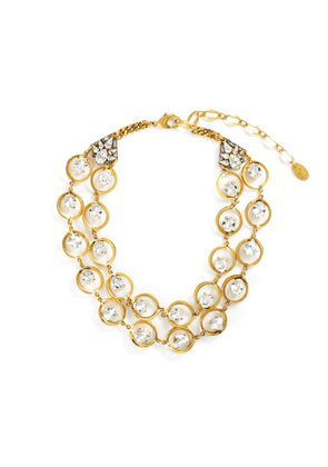 'Beyond Boundaries' Swarovski crystal tiered circle link necklace