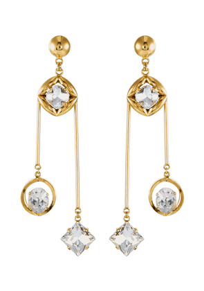 'Beyond Boundaries' Swarovski crystal drop earrings