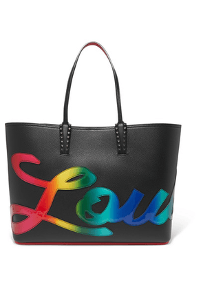 Christian Louboutin - Cabata Spiked Appliquéd Leather Tote - Black