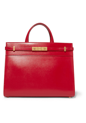 SAINT LAURENT - Manhattan Small Leather Tote - Red