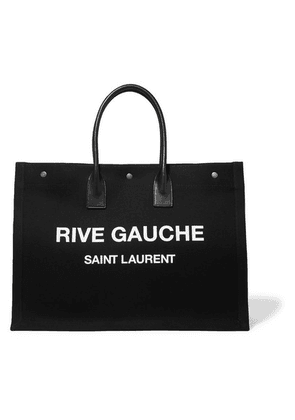 SAINT LAURENT - Noe Leather-trimmed Printed Canvas Tote - Black