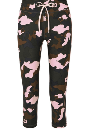 The Upside - Nyc Cropped Camouflage-print Stretch Leggings - Army green