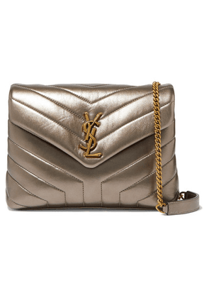 SAINT LAURENT - Loulou Metallic Quilted Leather Shoulder Bag - Gold