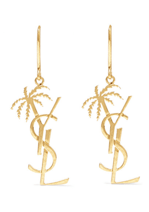 SAINT LAURENT - Gold-tone Earrings - one size