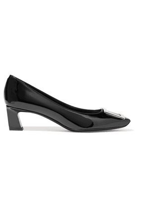 Roger Vivier - Belle Vivier Patent-leather Pumps - Black