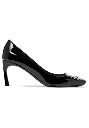 Roger Vivier - Belle Vivier Trompette Patent-leather Pumps - Black