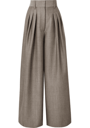 Marc Jacobs - Wool And Mohair-blend Wide Leg Pants - Gray