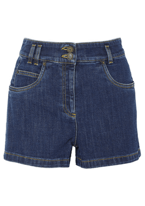 Moschino - Embroidered Denim Shorts - Mid denim