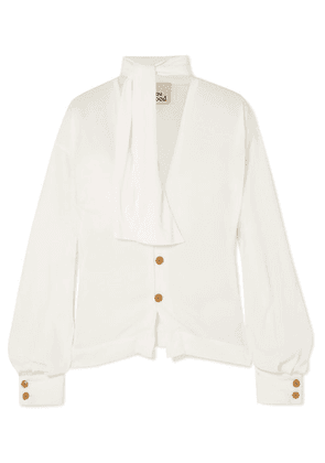 Vivienne Westwood - Wilma Pussy-bow Crepe De Chine Blouse - Off-white