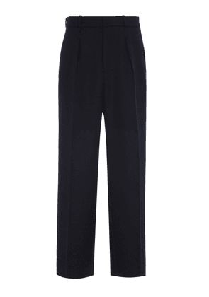 AMI Wide-Leg Wool Pants