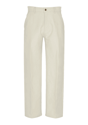 AMI Cropped Straight-Leg Jeans