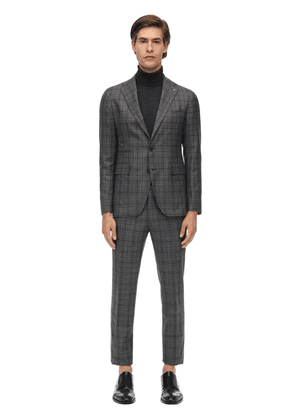 Virgin Wool Prince Of Wales Suit