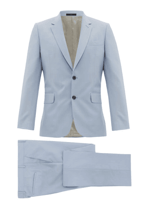 Paul Smith - Soho Fit Single Breasted Wool Blend Suit - Mens - Light Blue