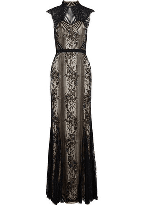 Catherine Deane Jess Corded Lace Gown Woman Black Size 10