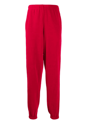 Gucci Loose chenille jogging trousers - Red