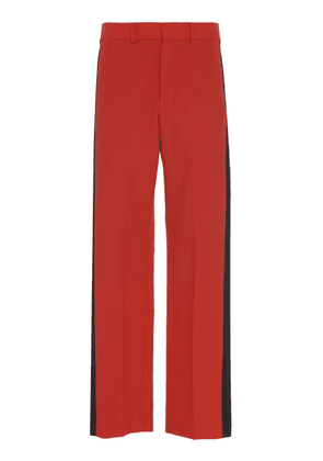 AMI Satin Stripes Wide Fit Trousers