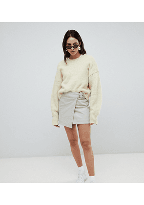 Weekday Tie Front Mini Skirt