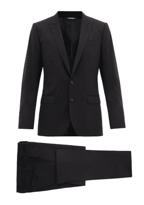 Dolce & Gabbana - Martini Single Breasted Two Piece Virgin Wool Suit - Mens - Black