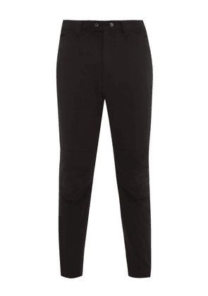 Ann Demeulemeester - Mid Rise Tapered Twill Trousers - Mens - Black