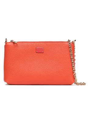 Dolce & Gabbana Pebbled-leather Clutch Woman Bright orange Size --