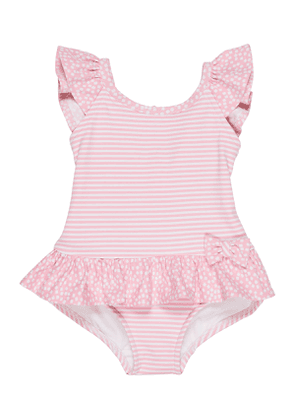 Stripes & Dots Ruffle-Trim One-Piece Swimsuit, Size 2-4