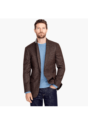 Ludlow Classic-fit tweed patch and flap-pocket blazer