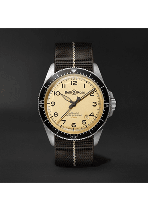Bell & Ross - Br V2-92 Limited Edition Automatic 41mm Stainless Steel And Canvas Watch - Beige