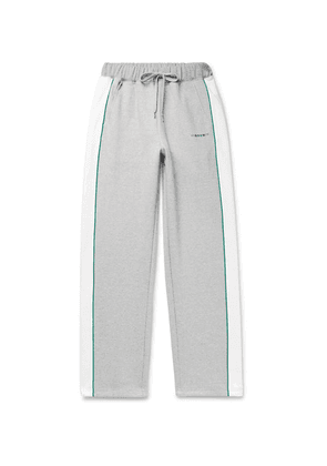 Maison Kitsuné - + Ader Error Piped Cotton-jersey Sweatpants - Gray