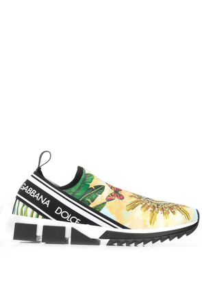 Dolce & Gabbana printed Sorrento sneakers - Yellow