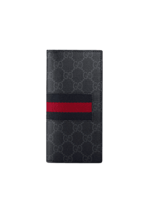 Gucci Web GG Supreme long wallet - Black