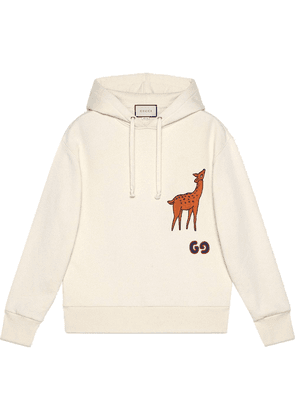 Gucci patch detail hoodie - White