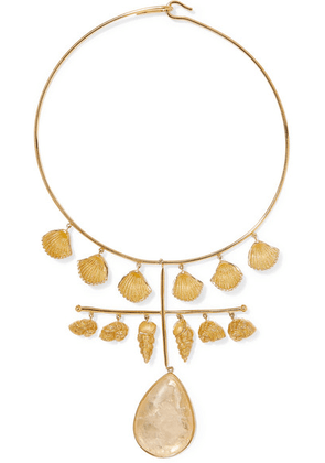 Aurélie Bidermann - Panama Gold-plated Crystal Necklace - one size