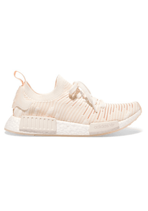 adidas Originals - Nmd r1 Rubber-trimmed Primeknit Sneakers - Off-white