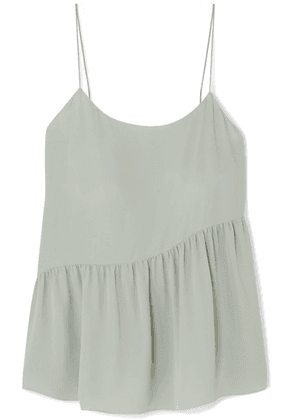 Theory - Pleated Silk-crepe Camisole - Green