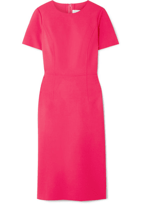 Carolina Herrera - Wool-blend Cady Midi Dress - Bright pink
