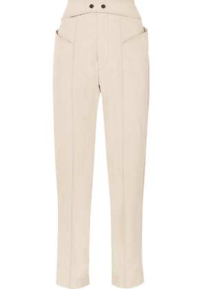 Isabel Marant - Lixy Cotton-twill Tapered Pants - Beige
