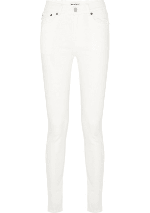 Balenciaga - Distressed High-rise Skinny Jeans - White
