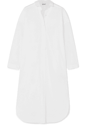 Loewe - Broderie Anglaise Cotton And Linen Midi Dress - White