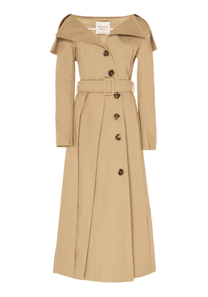 A.W.A.K.E. Off-The-Shoulder Cotton Trench
