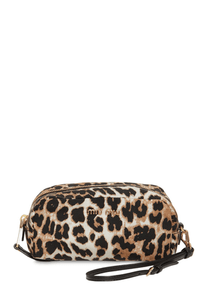 Leopard Print Nylon Makeup Bag