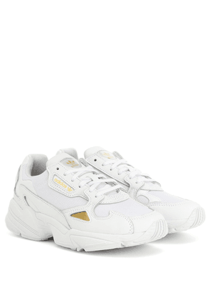 Falcon leather-trimmed sneakers