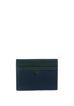 Balmain leather card holder - Green