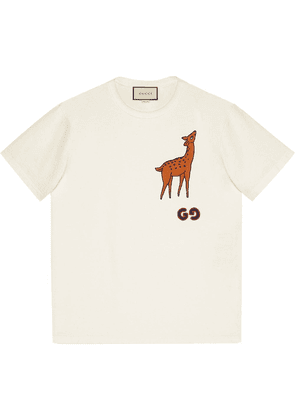 Gucci deer patch T-shirt - White