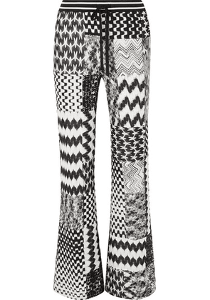 Missoni - Patchwork Crochet-knit Straight-leg Pants - Black