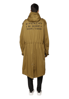 Logo Print Cotton Parka