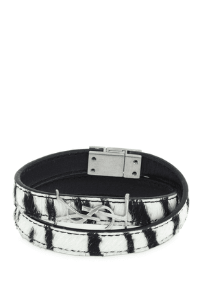 Ponyskin Double Leather Bracelet